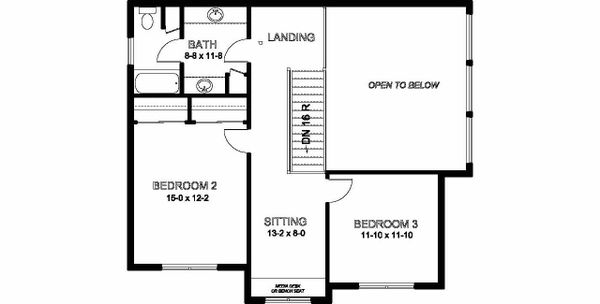 Craftsman Floor Plan - Upper Floor Plan Plan #126-210
