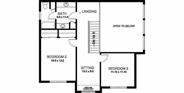 Dream House Plan - Craftsman Floor Plan - Upper Floor Plan #126-210