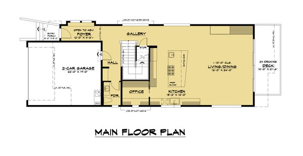 Modern Floor Plan - Main Floor Plan Plan #1066-106
