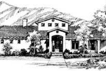 House Blueprint - Mediterranean Exterior - Front Elevation Plan #72-171