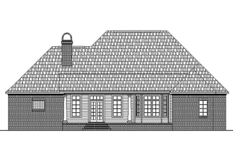 Southern Exterior - Rear Elevation Plan #21-106 - Houseplans.com