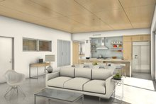 Modern Interior - Kitchen Plan #497-17