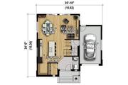Modern Style House Plan - 3 Beds 1 Baths 1724 Sq/Ft Plan #25-4589 Floor Plan - Main Floor Plan