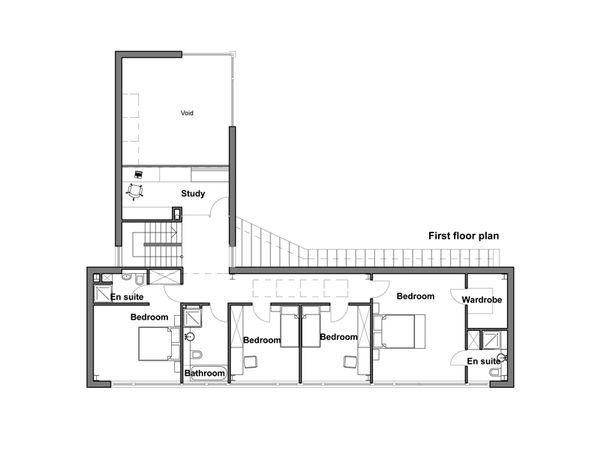 Modern Floor Plan - Upper Floor Plan Plan #520-1