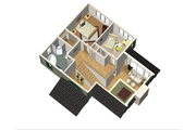 Country Style House Plan - 3 Beds 2 Baths 1368 Sq/Ft Plan #25-4741 Floor Plan - Upper Floor Plan