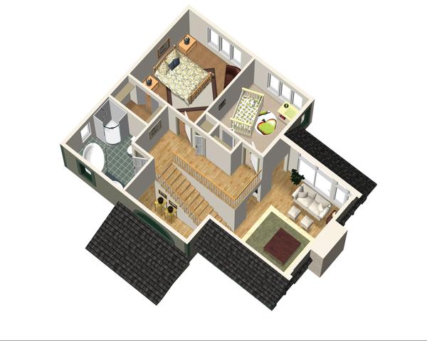 Country Floor Plan - Upper Floor Plan Plan #25-4741