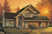 Craftsman Style House Plan - 4 Beds 2.5 Baths 1893 Sq/Ft Plan #48-111 Exterior - Front Elevation