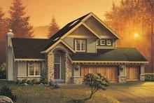 Craftsman Exterior - Front Elevation Plan #48-111