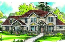 Dream House Plan - Traditional Exterior - Front Elevation Plan #124-685