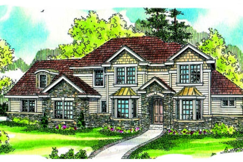 Traditional Exterior - Front Elevation Plan #124-685 - Houseplans.com