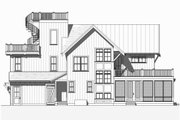 Beach Style House Plan - 4 Beds 3.5 Baths 2769 Sq/Ft Plan #901-120 Exterior - Other Elevation