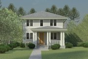 Craftsman Style House Plan - 3 Beds 3 Baths 3735 Sq/Ft Plan #926-5 Exterior - Covered Porch