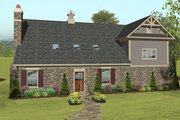Craftsman Style House Plan - 2 Beds 1 Baths 1207 Sq/Ft Plan #56-616 Exterior - Front Elevation