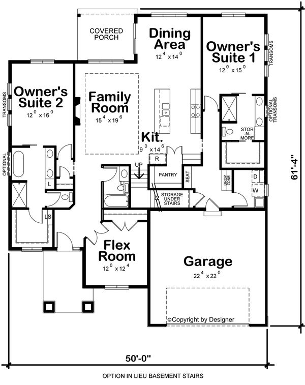 Dream House Plan - Contemporary Floor Plan - Other Floor Plan #20-2428