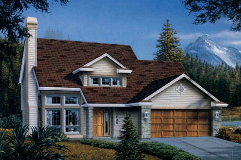 Craftsman Style House Plan - 3 Beds 2.5 Baths 1707 Sq/Ft Plan #48-112 Exterior - Front Elevation