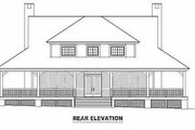 Country Style House Plan - 3 Beds 2.5 Baths 2417 Sq/Ft Plan #81-239 Exterior - Rear Elevation