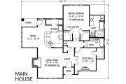 Bungalow Style House Plan - 2 Beds 3 Baths 1736 Sq/Ft Plan #410-101 Floor Plan - Main Floor