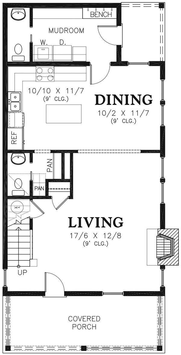 Farmhouse Floor Plan - Main Floor Plan Plan #48-977