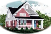 Farmhouse Style House Plan - 3 Beds 2.5 Baths 1547 Sq/Ft Plan #81-449 Exterior - Front Elevation