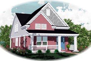 Farmhouse Exterior - Front Elevation Plan #81-449