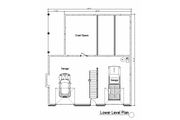 Log Style House Plan - 2 Beds 2 Baths 2112 Sq/Ft Plan #451-5 Floor Plan - Lower Floor Plan