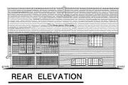 Traditional Style House Plan - 3 Beds 2 Baths 1098 Sq/Ft Plan #18-196 Exterior - Rear Elevation