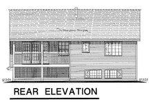 House Blueprint - Traditional Exterior - Rear Elevation Plan #18-196
