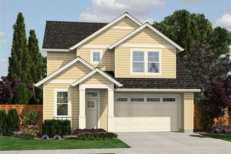 Traditional Exterior - Front Elevation Plan #48-508 - Houseplans.com