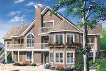 Cottage Exterior - Front Elevation Plan #23-2069