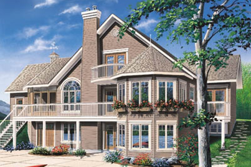 Cottage Exterior - Front Elevation Plan #23-2069
