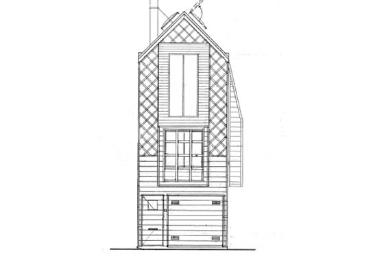 Modern Exterior - Front Elevation Plan #511-3