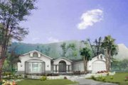 Adobe / Southwestern Style House Plan - 3 Beds 2.5 Baths 2078 Sq/Ft Plan #1-895 Exterior - Front Elevation