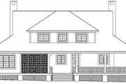 Southern Style House Plan - 3 Beds 3 Baths 2435 Sq/Ft Plan #81-857 Exterior - Rear Elevation