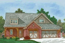 Dream House Plan - European Exterior - Front Elevation Plan #310-1307