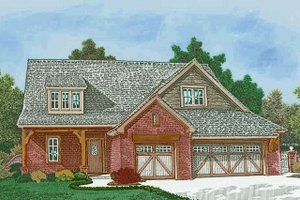 European Exterior - Front Elevation Plan #310-1307