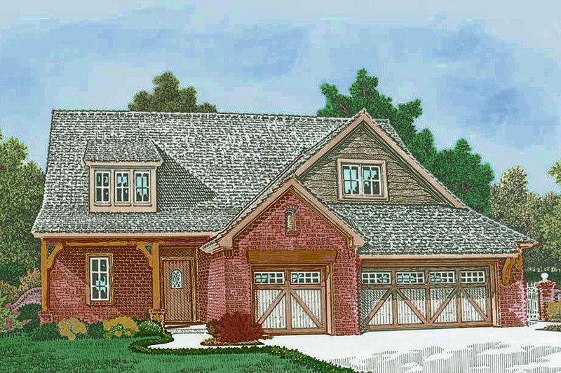 European Style House Plan - 3 Beds 2.5 Baths 2012 Sq/Ft Plan #310-1307