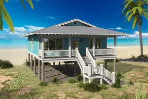 Home Plan - Beach Exterior - Front Elevation Plan #932-105