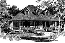 Southern Exterior - Front Elevation Plan #14-203