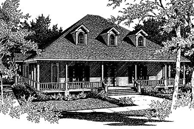 Architectural House Design - Southern Exterior - Front Elevation Plan #14-203