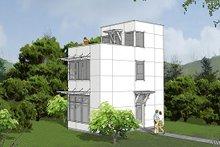 Architectural House Design - Modern Exterior - Front Elevation Plan #48-485