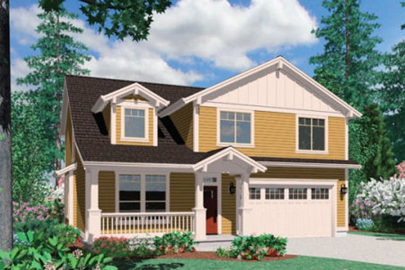 Dream House Plan - Craftsman Exterior - Front Elevation Plan #48-387