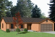 Ranch Style House Plan - 3 Beds 2 Baths 1250 Sq/Ft Plan #116-174 Exterior - Front Elevation