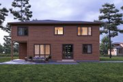 Contemporary Style House Plan - 4 Beds 4.5 Baths 3370 Sq/Ft Plan #1066-57 Exterior - Rear Elevation
