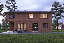 House Plan Design - Contemporary Exterior - Rear Elevation Plan #1066-57
