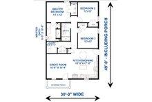 Traditional Floor Plan - Main Floor Plan Plan #44-230