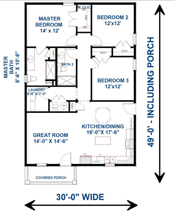House Plan Design - Traditional Floor Plan - Main Floor Plan #44-230