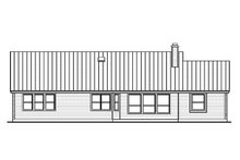 Country Exterior - Rear Elevation Plan #935-1