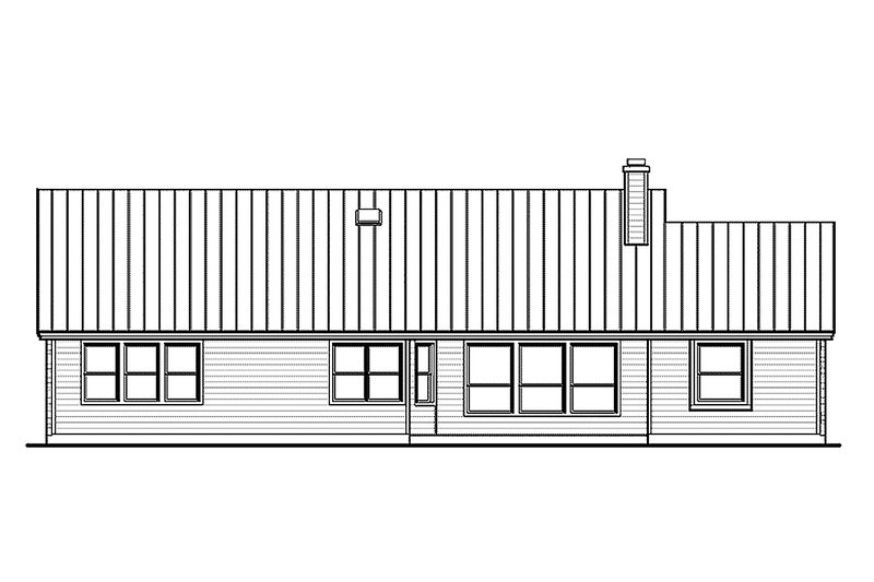 Country Exterior - Rear Elevation Plan #935-1 - Houseplans.com