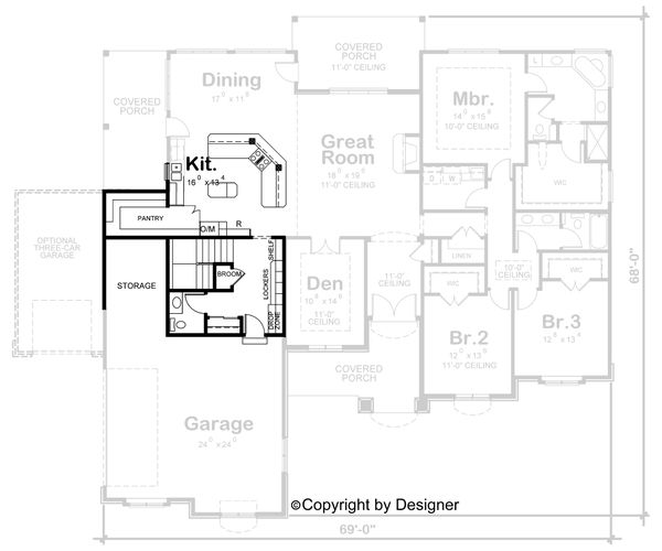 House Plan Design - European Floor Plan - Other Floor Plan #20-2128