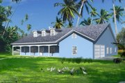 Mediterranean Style House Plan - 4 Beds 2.5 Baths 3176 Sq/Ft Plan #1-1160 Exterior - Front Elevation